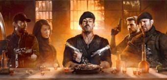 The Expendables 2 Last Supper Movie Banner