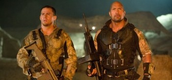 Channing Tatum Dwayne Johnson GI Joe Redemption