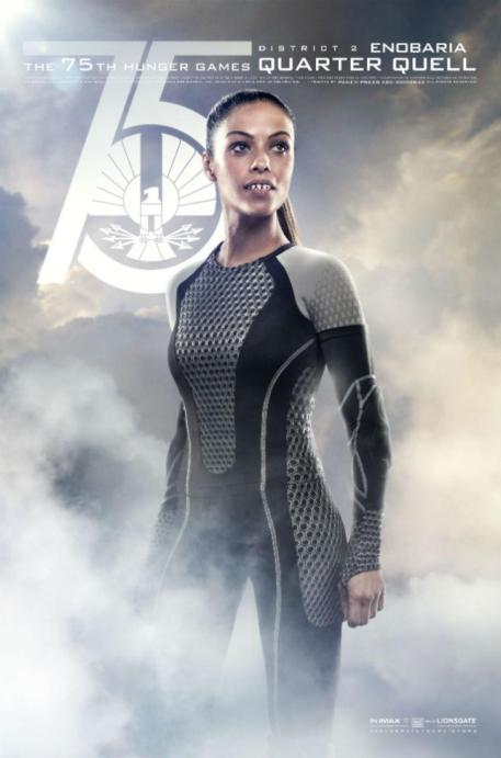 Meta Golding 75th Hunger Games Quarter Quell District 2 Enobaria movie poster