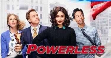 Christina Kirk Alan Tudyk Vanessa Hudgens Danny Pudi Powerless Poster
