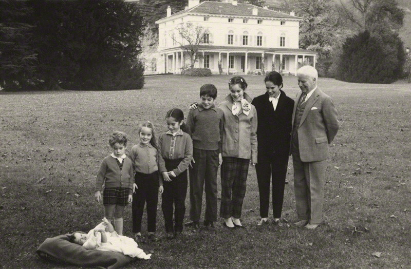 NPG x34819; Charlie Chaplin with his family by Unknown photographer