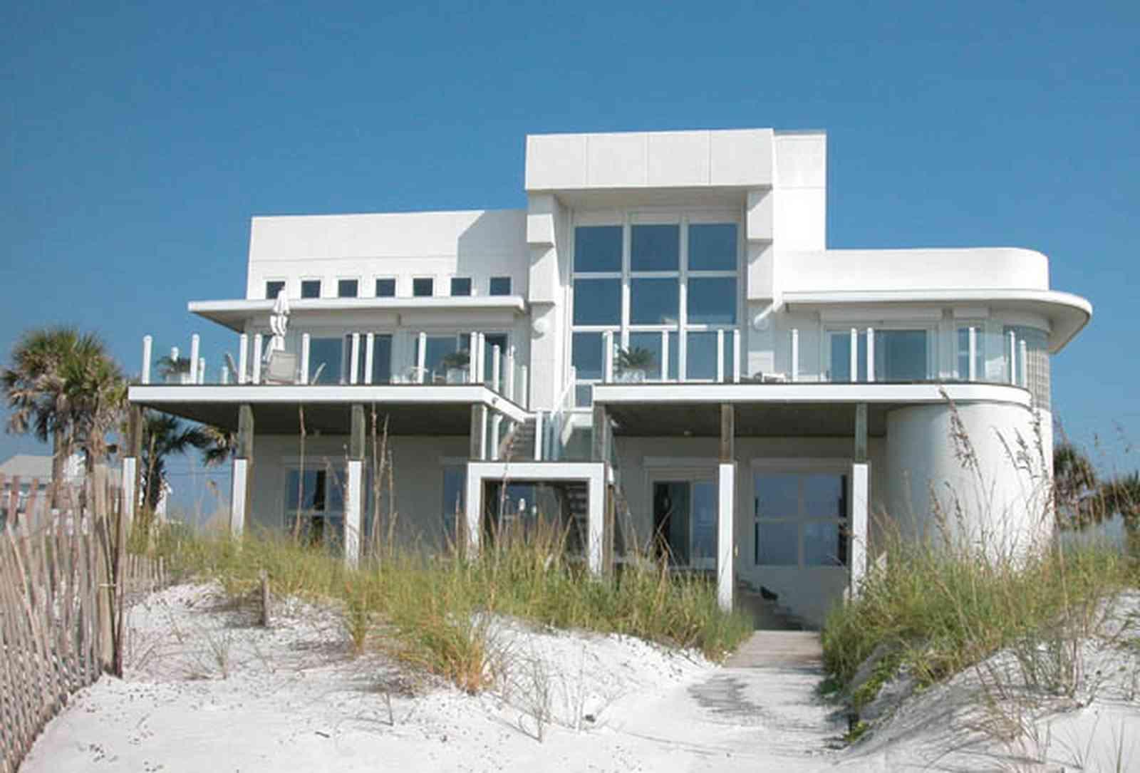 Luxurious Pensacola Beach Ariola Drive Art Deco House 01 Art Deco House Decor Art Deco House Los Angeles curbed Art Deco House