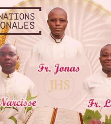 Ordinations des diacres : Jonas, Lewis et Narcisse à Abidjan