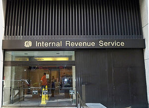 Exterior of the Internal Revenue Service office