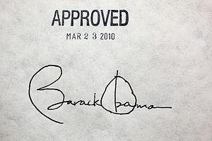 President Barack Obama's signature