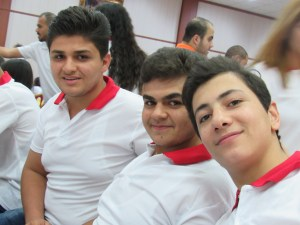 Refugee teens at Church youth gathering in Kirkuk