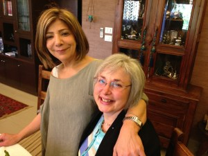 Elmarie with our beloved Arabic teacher, Rada