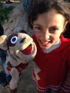 Rocko and Syrian refugee girl