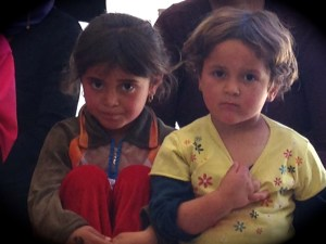 Yazidi refugee children