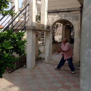 Bell Ringer at a protestant church in Southeast Syria