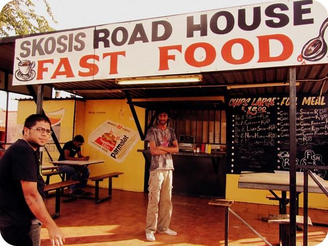 Skosi's Road House Fast Food in Soweto.