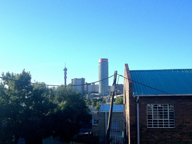 Troyeville view of Hillbrow