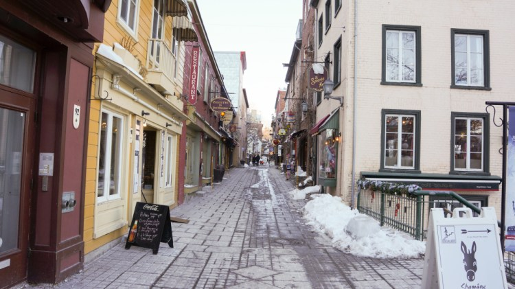 Quebec City in March