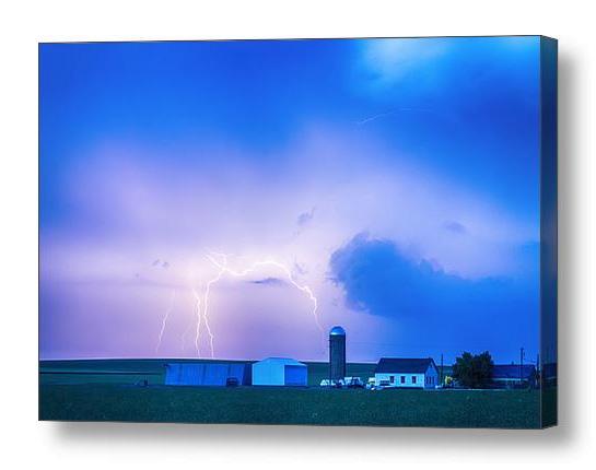 Colorado Country Lightning Storm Canvas Print