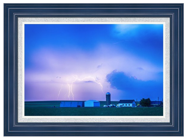 Colorado Country Lightning Storm Framed Print