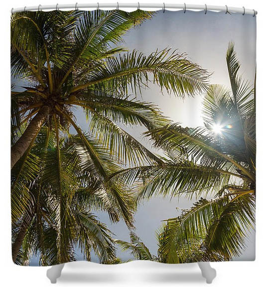 Tropical Sunshine Shower Curtains