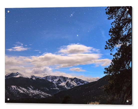 Rocky Mountain Evening View Acrylic Print