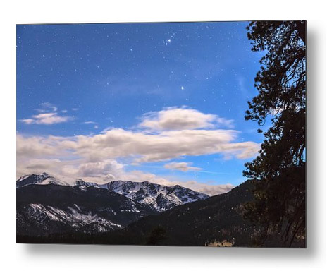 Rocky Mountain Evening View Metal Print