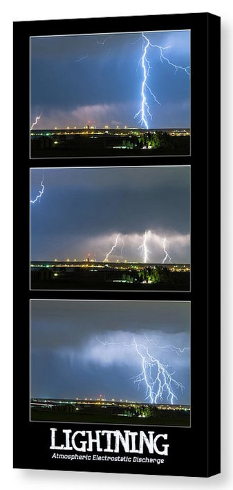 Lightning - Atmospheric Electrostatic Discharge Canvas Print