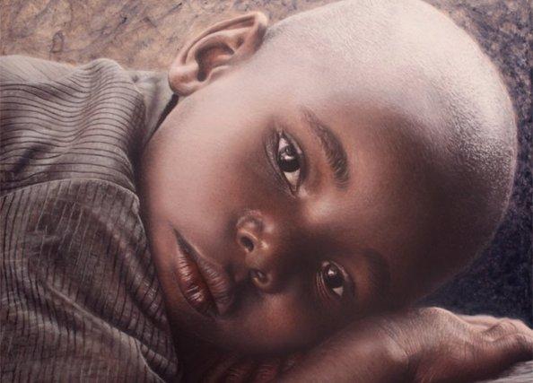 baby acrylic painting