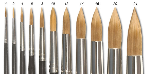 types-of-watercolor-brushes