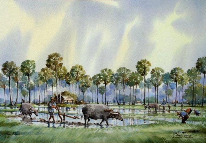 village-watercolor