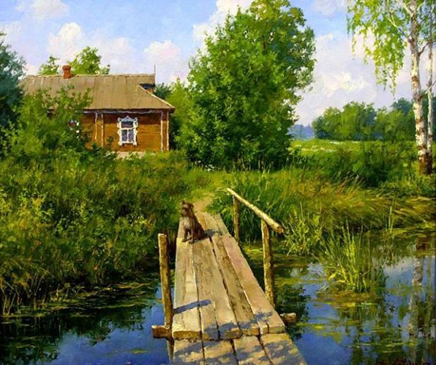 bridge-landscape-painting