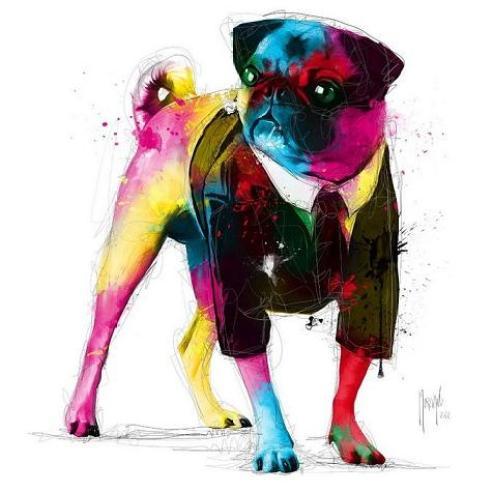 pug-dog-painting