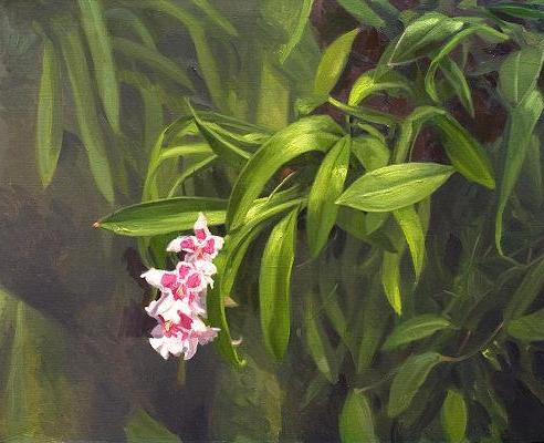orchid-leaf-oil-painting