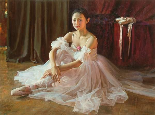 chinese-girl-painting-guan-zeju