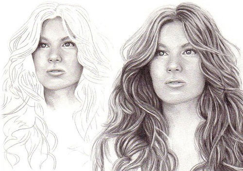 step-by-step-hair-drawing