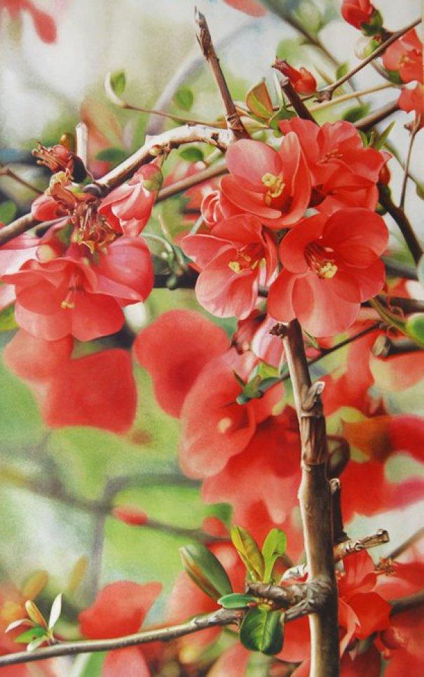 red-flower-paintings