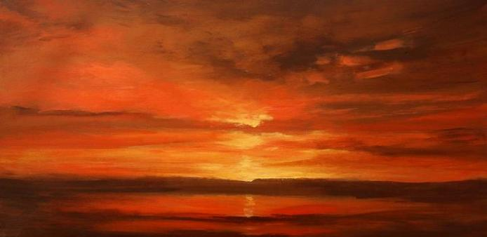 famous sunset painting