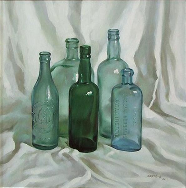 Oil paintings of glass bottles fine art blogger for How to paint glass with oil paint