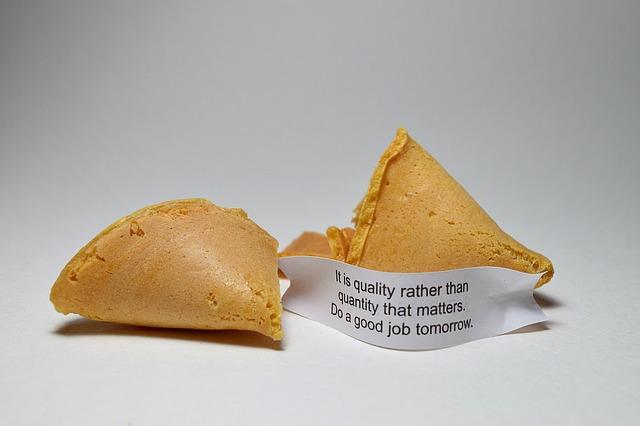フォーチュンクッキーの写真