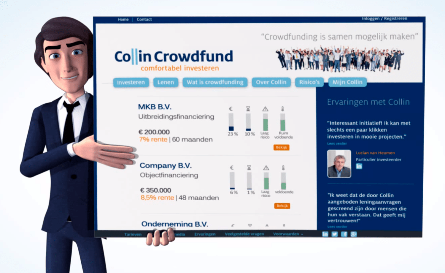 Collin Crowdfund crowdfunding financiering mkb finno