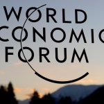 The logo of the World Economic Forum (WEF) is seen on the building of the Davos Congress center as the sun sets on January 29, 2011 in Davos. Some 2,500 political and industry leaders are gathered in the small alpine village for the forum, which ends on January 30.  AFP PHOTO / FABRICE COFFRINI (Photo credit should read FABRICE COFFRINI/AFP/Getty Images)