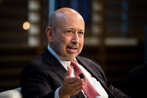 Lloyd Blankfein, chairman and chief executive officer of Goldman Sachs Group Inc., speaks during the New York Times DealBook conference in New York, U.S., on Thursday, Nov. 10, 2016. The event brings together CEOs, leading figures in finance, and experts from diverse industries to assess the challenges and opportunities that will define the deal world of tomorrow. Photographer: Michael Nagle/Bloomberg via Getty Images