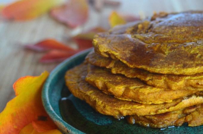 Pumpkin Spice Pancakes (Vegan, Gluten-free)