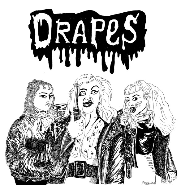 Band logo for DRAPES, July 2016