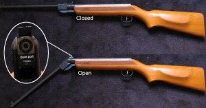 Break barrel spring piston air rifle
