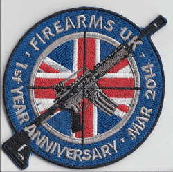 Firearms UK 1st Year Anniversary Velcro Patch