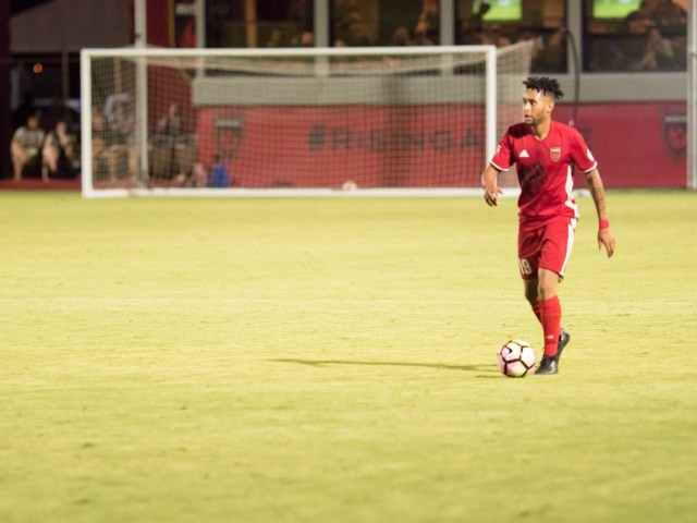 Phoenix Rising FC's Amadou Dia. Photo by Aaron Blau/Firebird Rising
