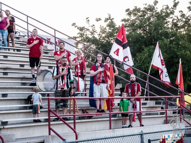 The FCAZ Supporters group are the Ramparts. Several traveled to Riverside, CA to watch FCAZ win the division championship.
