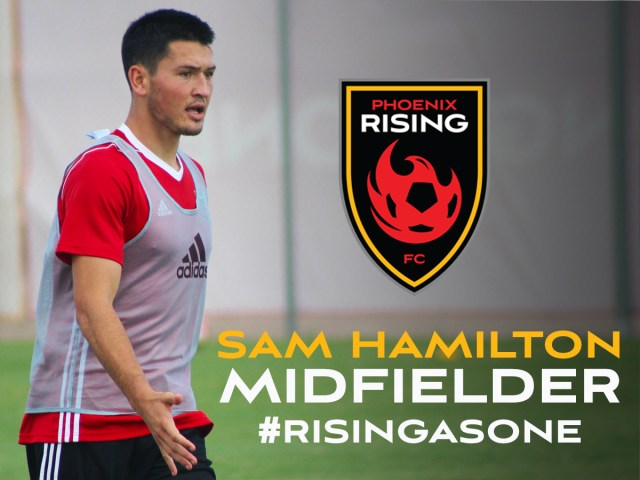 Phoenix Rising FC acquired midfielder Sam Hamilton on loan from the Colorado Rapids Aug. 10, 2017. Photo provided by Phoenix Rising FC