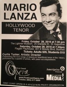 Mario Lanza Hollywood Tenor by First Coast Opera @ The Lightner Museum | Arlington | Virginia | United States