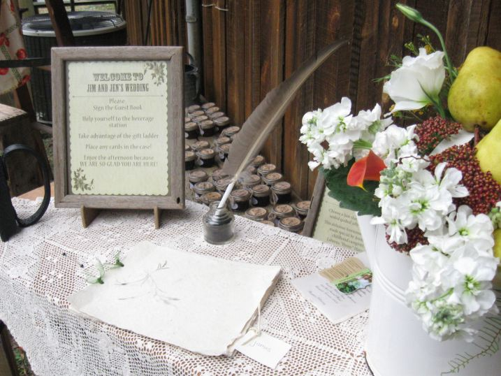 Guest Book on a Vintage Ironing Board
