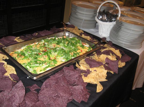 Seven Layer Mexican Dip with tortilla's