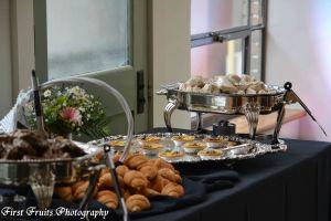 Entree Station Rosemary Beef Roast with Croissant, Vegetarian Quiche Florentine, Chicken Marsala