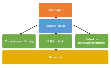 Beskrivning av Banduras socialkognitiva teori inom inlärning